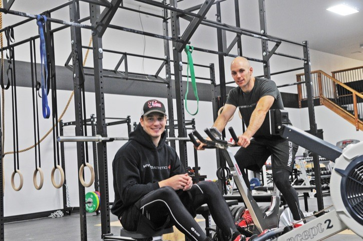 Robert Perovich (left) and Nate Beveridge have teamed up to open Langley's Hybrid Athletics Inc. The new gym had its grand opening last Saturday.