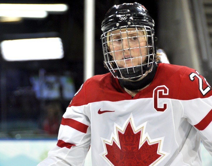 Hayley Wickenheiser was won gold with Canada's women's hockey team three times, in 2002, 2006, and 2010.