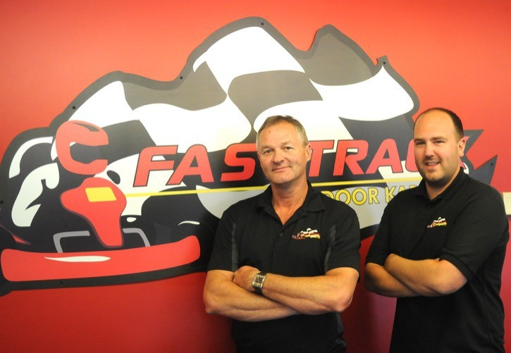 Dave Hik (left) and Ryan Fischer are the owners of Langley's Fast Track Indoor Karting.