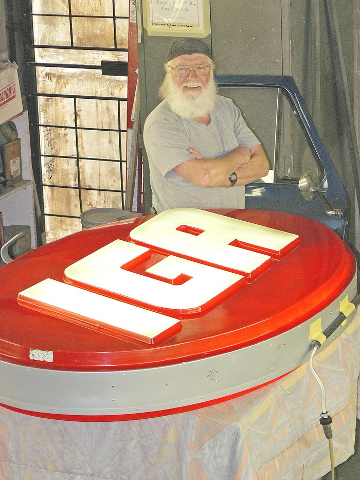 Langley custom car builder Mark Unrau has completed the restoration of the 50-year-old IGA sign from the burned-out Fort Langley store. Video online at langleytimes.com.