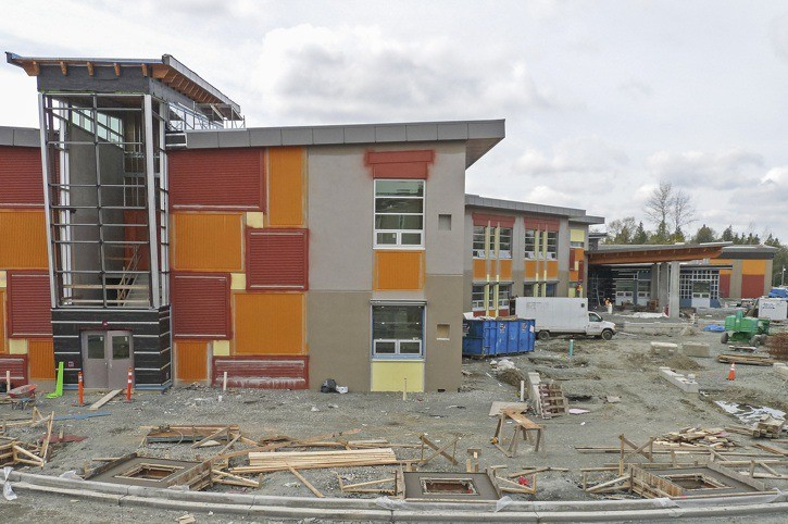 This was Yorkson Creek Middle School under construction in May. Now the busy school has been fully operational and already over capacity.