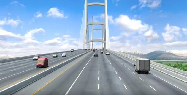 Rendering of 10-lane Massey Bridge.
