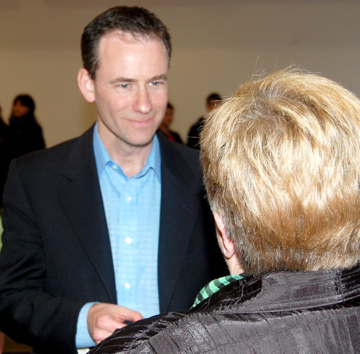 Bruce Sellery led a spirited town hall meeting in Aldergrove, for a TV series taping that is being pitched to the Oprah Winfrey Network Canada.