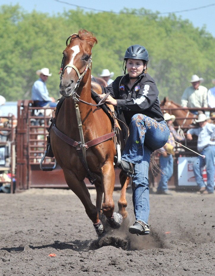 Langley rodeo star Sarah Wright has earned a full scholarship to Montana State University, where she hopes to study law.