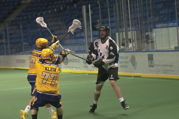 Langley Junior Thunder's James Rahe was an opponent of the Coquitlam Junior Adanacs when the two teams met at the Langley Events Centre earlier this season. But the Thunder traded Rahe, their leading scorer, to the Adanacs and Coquitlam is now playing in the Minto Cup finals. The junior A national championship best-of-seven series is being held at the LEC from Aug. 16 to 24.