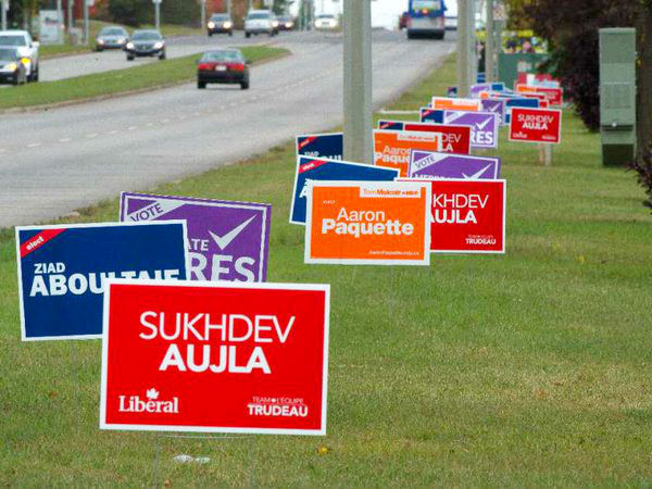 Elections signs are coming to a piece of public property near you.