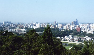 City of Sendai, northeast Japan, photographed in August, 2008. The outskirts of the city took the brunt of the March 11, 2011 tsunami.