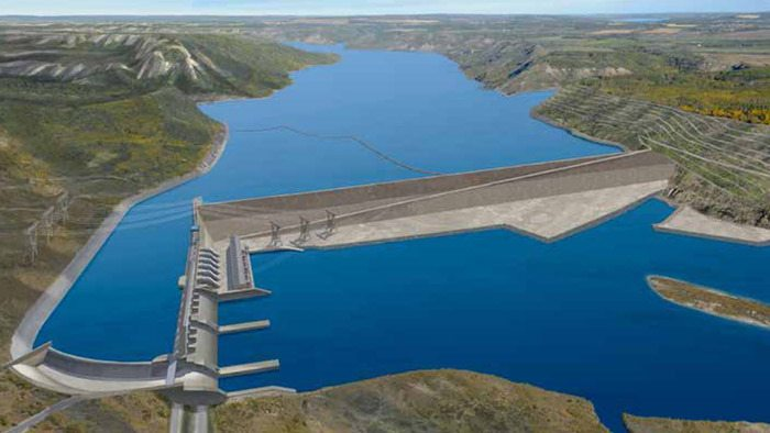 Site C dam project design has been changed to eliminate a separate bridge across the Peace River, and confine construction camp to one side of the river. Two temporary dams would have to be built to divert the river and allow construction of the main dam.