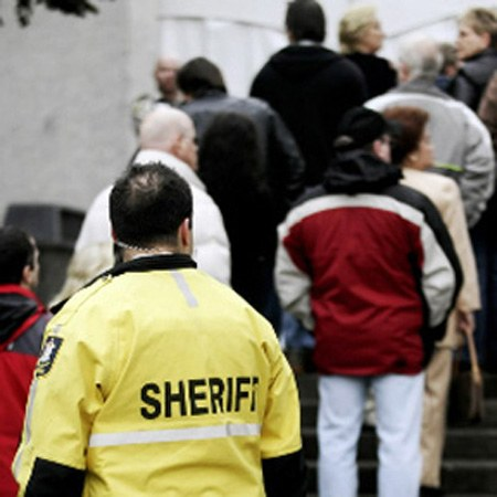 Sheriffs provide security and ensure decorum in court rooms and escort prisoners who are being held in custody.