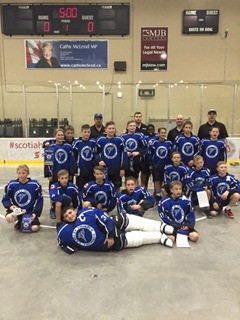 The Langley peewee B Thunder won silver at a tournament in Kamloops earlier this month.