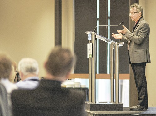 Sany Zein, TransLink director of infrastructure and network management, said improvements to bus service in Willoughby could be in place early next year. He was speaking at the Township's fourth annual economic forum on Wednesday.