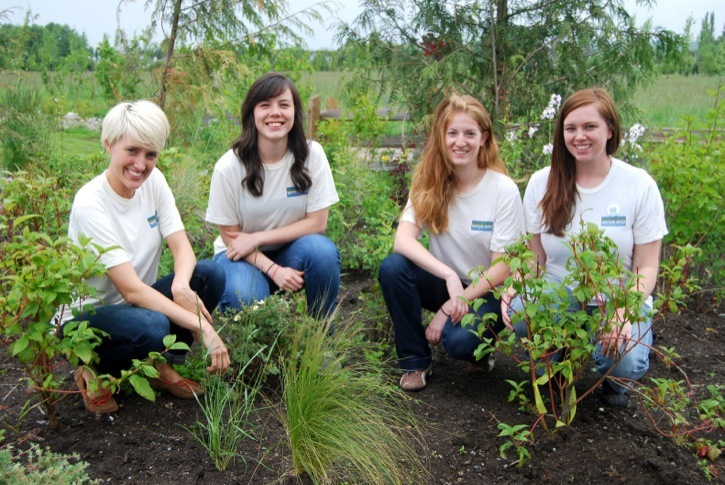 Water Wise team members Sarah Carlson, Katrina Chan, Lindsay Roberts, and Taryn Heskethwill be educating people throughout the Township of Langley this summer about where their water comes from and ways to preserve the resource, including using native plants to create Water Wise gardens.