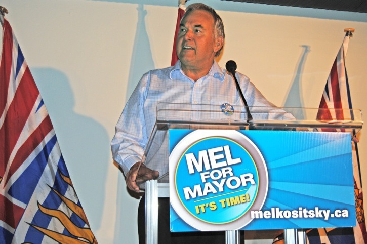 Former Township mayor John Scholtens endorsed Mel Kositsky for the top position on council at a Saturday rally.