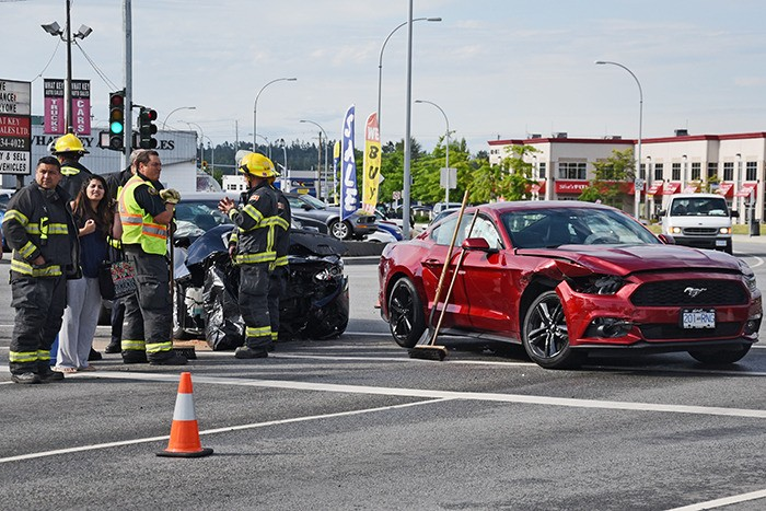 A car accident at the intersection of Fraser Highway and the Willowbrook Connector had traffic tied up Friday morning as crews assessed the damage. More information to come.