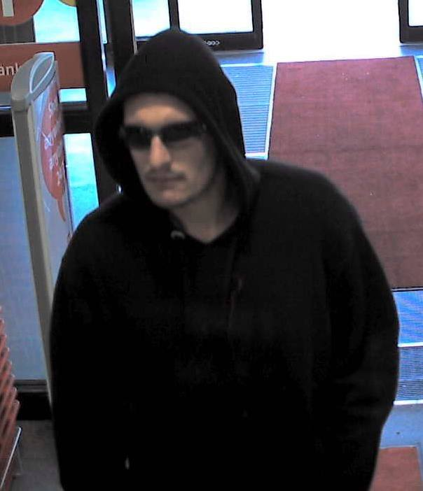 This man is suspected in robbing the Langley Future Shop of two Samsung Galaxy phones on Monday (Oct. 7).