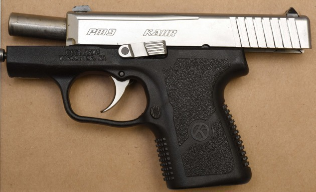 Handgun seized by police from Langley house.