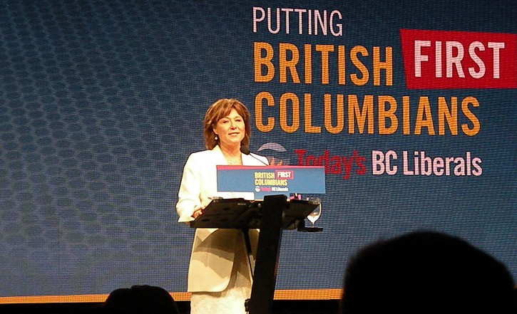 Premier Christy Clark speaks to BC Liberal convention in Vancouver, November 2016.