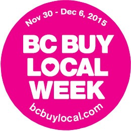 Businesses participating in BC Buy Local Week will be sporting pink campaign buttons.