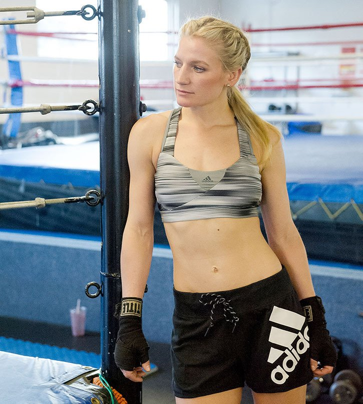 Fort Langley boxer Sarah Pucek is scheduled to fight for a North American title Friday at the Coast Hotel ballroom.
