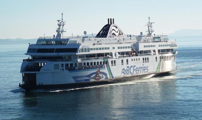 The Coastal Inspiration pulls into BC Ferries' Tsawwassen terminal.