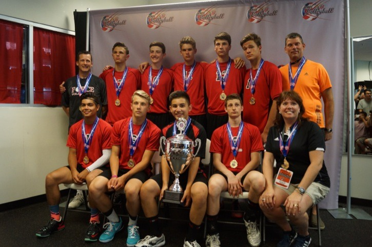 The Force Volleyball Club U16 boys team took top spot at a prestigious tournament in Florida June 19 to 21.