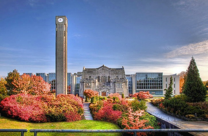The main clock tower at UBC's Vancouver campus. Six sexual assaults have been reported in recent weeks.
