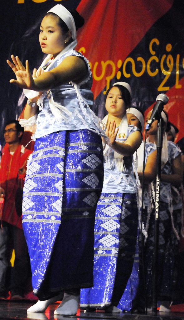 Karen dancers performed a traditional Don Dance during the Karen New Year celebrations at Christian Life Assembly on Saturday.