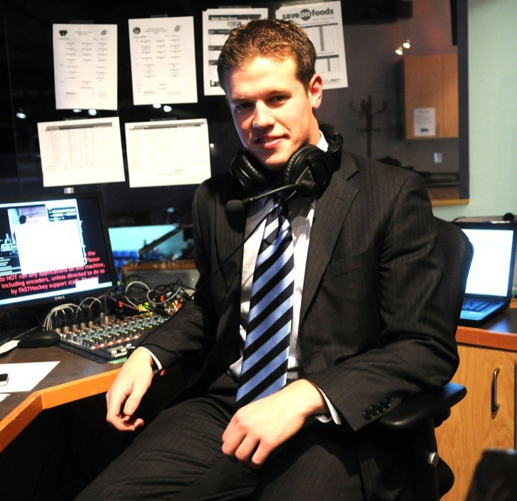 Brandon Astle has been named the new voice of the Abbotsford Heat AHL hockey club. Astle could previously be heard calling Langley Rivermen junior A hockey games.