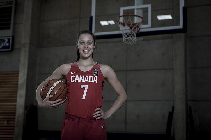 Langley's Louise Forsyth is in Spain with Canada's U17 national team at the FIBA U17 world championships.