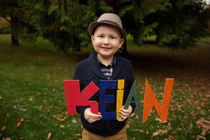 Langley's Keian Blundell died of cancer on New Year's Day. He was only six. This was the last family photo shoot he did in October 2013 before his cancer got worse.