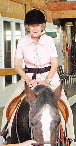 As Violet Rumpel approached a milestone birthday, she climbed on a horse for the first time in years.