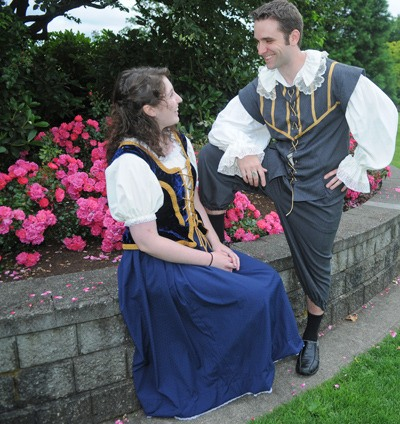 Langley's Caroline Dearden plays Viola and VG Winter of Coquitlam is Duke Orsino in Bard in the Valley's production of Twelfth Night. The Langley-based Shakespeare company returns to the Spirit Square Stage on Aug. 9.