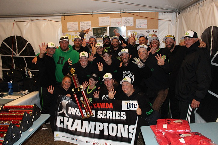 Langley's Roll 2 were crowned the 2016 NSA Canada co-ed Canadian World Series champions last week in Leduc, Alta. The team went 9-1, outscoring their opponents by 95 runs in those 10 games.