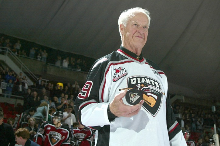 The Vancouver Giants are mourning the loss of one of their founding co-owners, Gordie Howe. Mr. Hockey passed away at the age of 88 on Friday (June 10).
