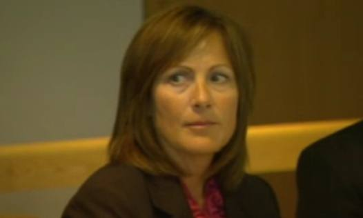 Former Coquitlam RCMP Const. Ruth Chapman, then known as Ruth Yurkiw, testifying Tuesday at the Missing Women Inquiry.