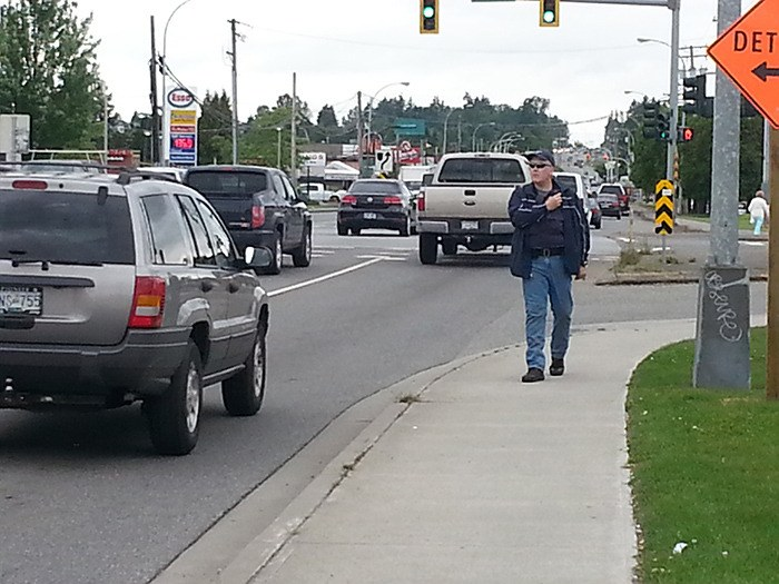 Langley RCMP Cpl. Patrick Davies spent the better part of Friday relaying information about bad drivers, so awaiting police officers would be ready to pull them over and write them tickets.