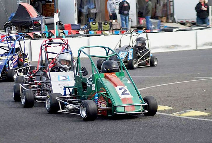 Langley's Brody Ferguson (#2) is a veteran of the quarter midget racing circuit — and he's only nine years old. The third-generation racer recently returned from Las Vegas with a second-place finish in the Jr. Stock event.