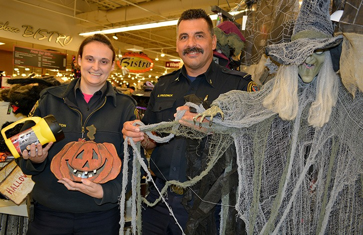 Township of Langley Fire Prevention Captain Gary Proznick and Public Fire and Life Safety Educator Krista Barton are providing precautions and tips for costumes and decorating that will help keep Halloween fun and safe