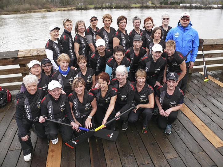 Team Titanium, a women's Dragon boat C team out of the Fort Langley Canoe Club, has qualified for the world championships. The championships begin this weekend in Australia. The team  is made up of women aged 60 and over.