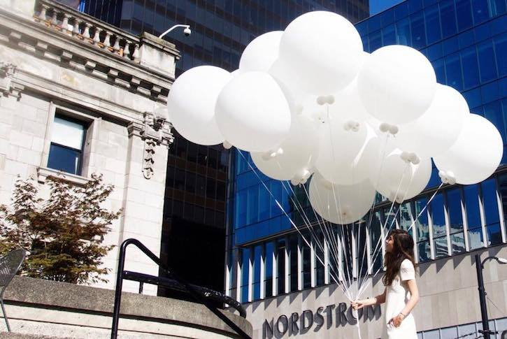White After Labour Day: In this photo, published on September 1, Nordstrom counts down to their official opening of the chain's Vancouver store, a long-awaited big retail launch in B.C.'s biggest city.