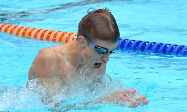 Langley Flippers' Will Karpan swam his way to a gold, three silver and a bronze medal at the Fraser Valley regional championships.