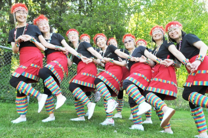 With their colourful costumes, the Taiwanese Dance Troupe, affiliated with Langley Community Services Society, performed at H.D. Stafford Middle School's Multicultural Days on May 19  and 20.