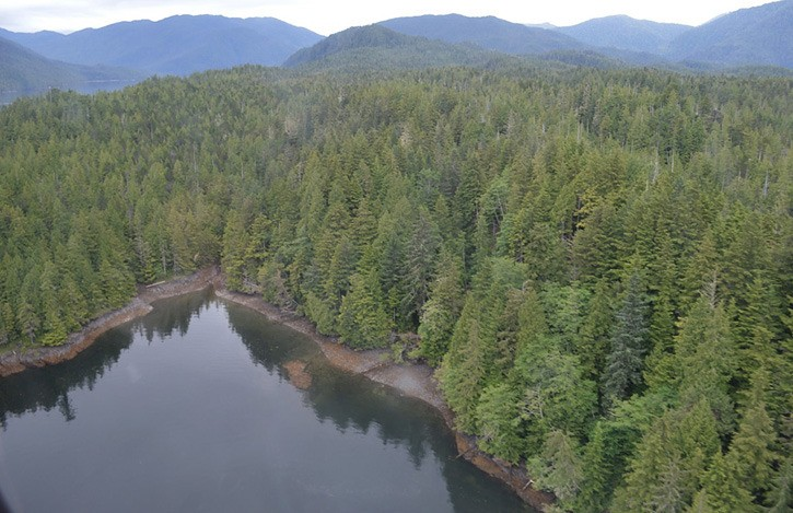 Shoreline on Tuck Inlet where ExxonMobil proposes to locate barge-based marine offloading facility for LNG tankers.