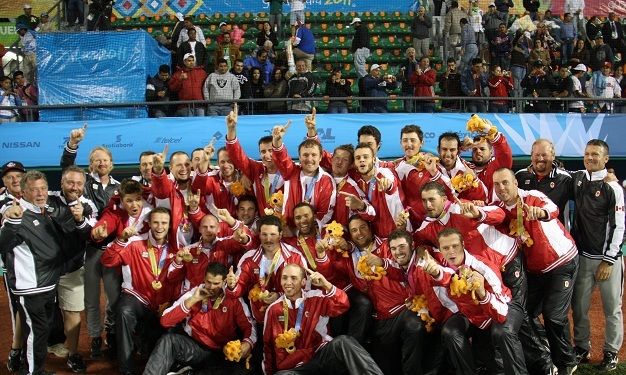 Canada captured the gold medal in baseball with a 2-1 victory over the Untied States at the Pan Am Games in Mexico.