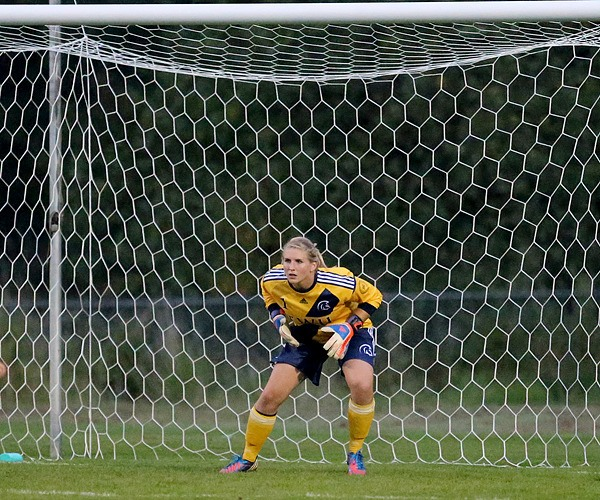 Trinity Western goalkeeper Kristen Funk set a new women's soccer program record on Saturday. The fifth-year goalkeeper has not allowed a goal in 475 minutes, a span of over five games.