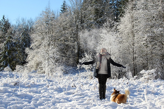 Persis Pang offers us this shot of a woman and her canine companion enjoying the snow at Campbell Valley Regional Park in January. Send your photos of Langley to newsroom@langleytimes.com.