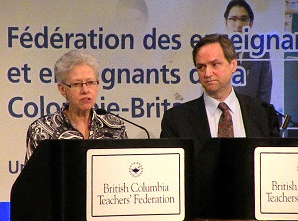 BCTF president Susan Lambert and Education Minister George Abbott have a rocky year ahead.