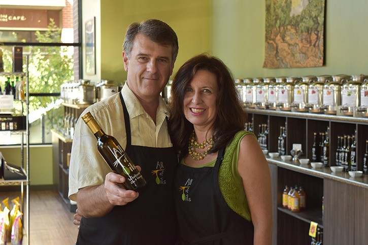 All of Oils owners Glenn Pineau and Kimm Brickman are excited to offer tastings of their flavoured olive oils for a third year at the West Coast Women's Show in Abbotsford.
