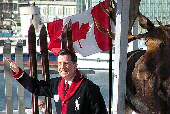 Stephen Colbert records an episode of his U.S. comedy show from Vancouver during the 2010 Olympics, expressing amazement about the lack of igloos in February. Expo 86 and the Olympics were designed to put Vancouver on the world map, and it seems to have worked.