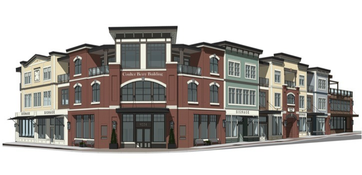 The Coulter Berry building in Fort Langley was approved by Langley Township council. That decision is now being challenged in court.
